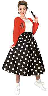 Black  White Polka  Dress on Dress  Full  Black  White  Polka  Skirt  Attached  Jacket  Sequin