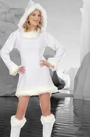 Dress Boutiques on Eskimo Girl Costumeeskimo Costume   Ladies Xmas Fancy Dress Costumes