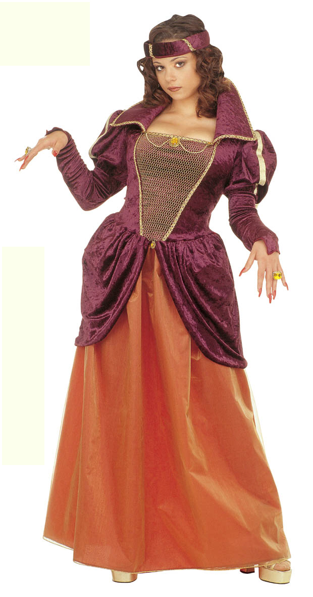 Medieval Queen Costume| Medieval Costume - Ladies Medieval Fancy Dress Costumes