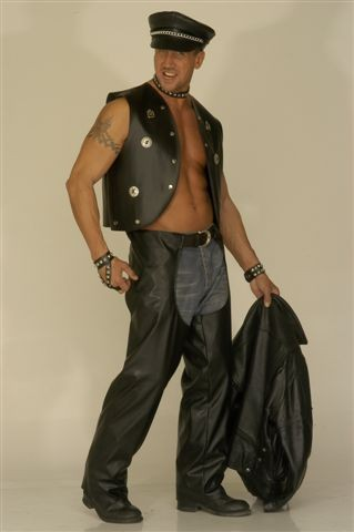 Dress Boutiques on Unisex Black Biker Or Cowboy Leather Effect Chaps  They Are Made From
