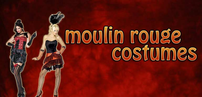 Ladies Moulin Rouge costumes