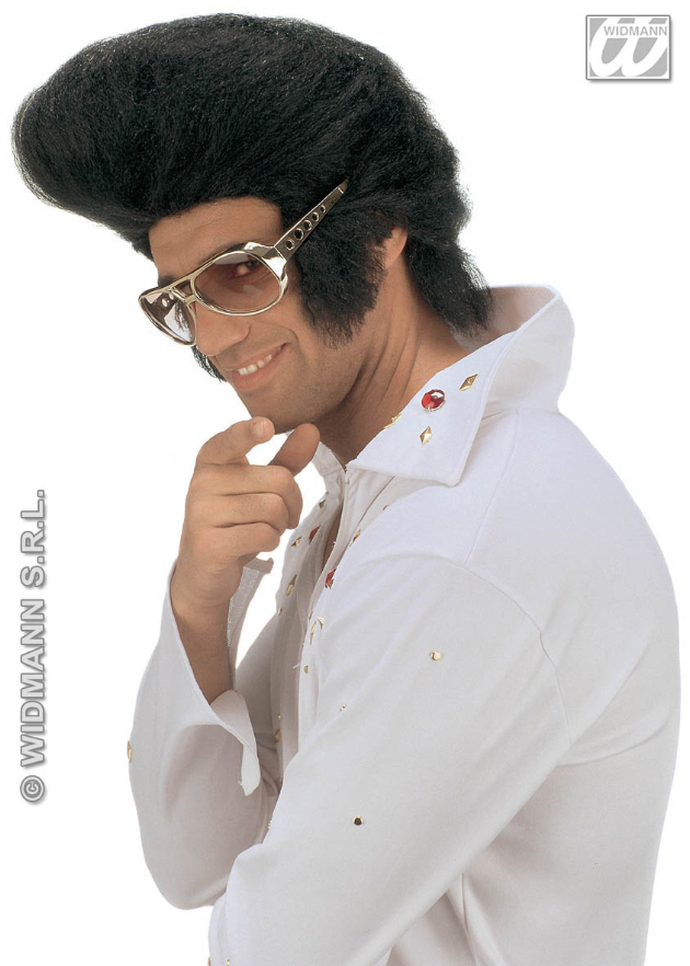 Elvis Big Quif Wigelvis Quif Wig Men S Fancy Dress Costumes