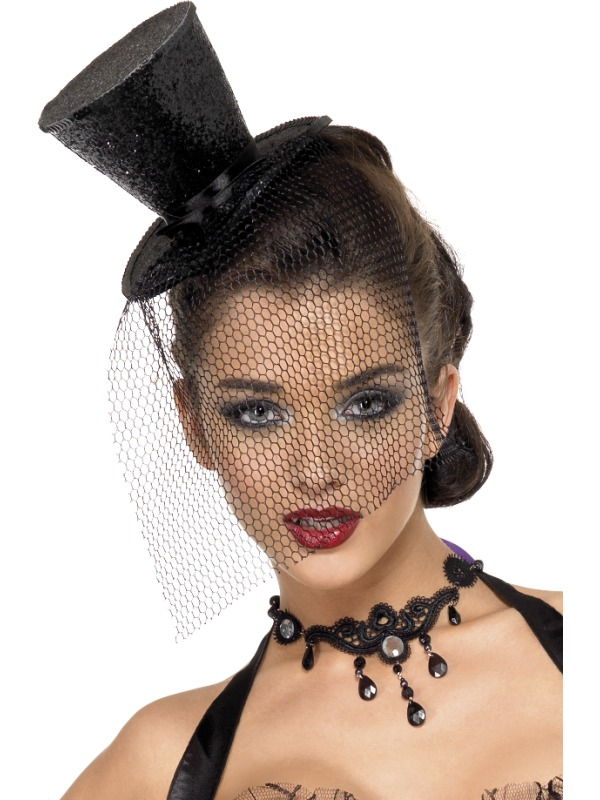523c883ec7aa6 Glitter Burlesque Mini Top Hat