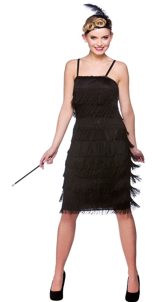 965ce0a37 Jazzy Flapper Fancy Dress Costume- Black (EF2150)