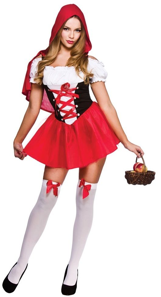 Little Red Riding Hood Costume Sf0139 Ladies Sexy Red