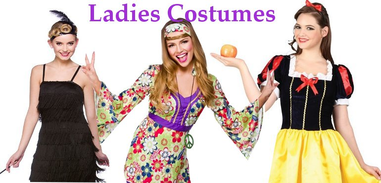 Ladies Fancy Dress costumes banner